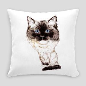 Ragdoll Caricature Everyday Pillow