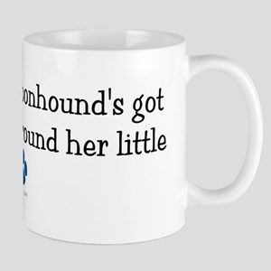 Wrapped Around Her Paw (Bluetick Coonhound) Mug