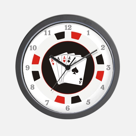 Four Aces Wall Clock