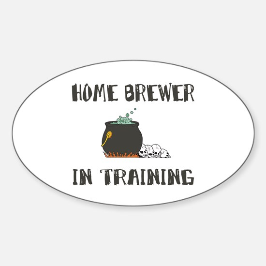 Home Brewing Humor Oval Decal