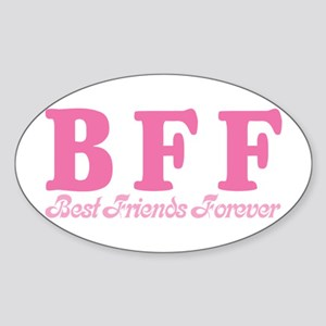 Best Friends Forever BFF Oval Sticker