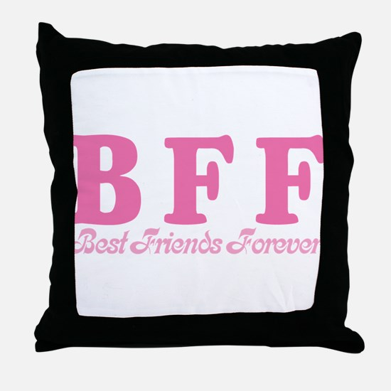 Best Friends Forever BFF Throw Pillow