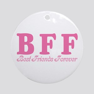 Best Friends Forever BFF Ornament (Round)
