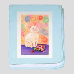 SushiCatInlOve8x10 baby blanket