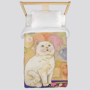 SushiCatInlOve8x10 Twin Duvet Cover
