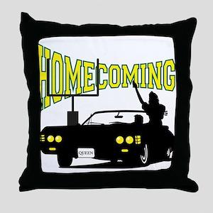 Homecoming Queen Yellow Logo Throw Pillow