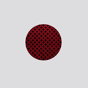 CIRCLES3 BLACK MARBLE & RED LEATHER (R Mini Button