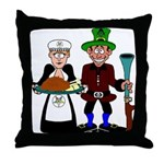 Thanksgiving Pilgrims Throw Pillow