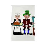 Thanksgiving Pilgrims Rectangle Magnet (100 pack)