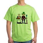 Thanksgiving Pilgrims Green T-Shirt