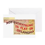 Flat Oklahoma Greeting Cards (Pk of 10)