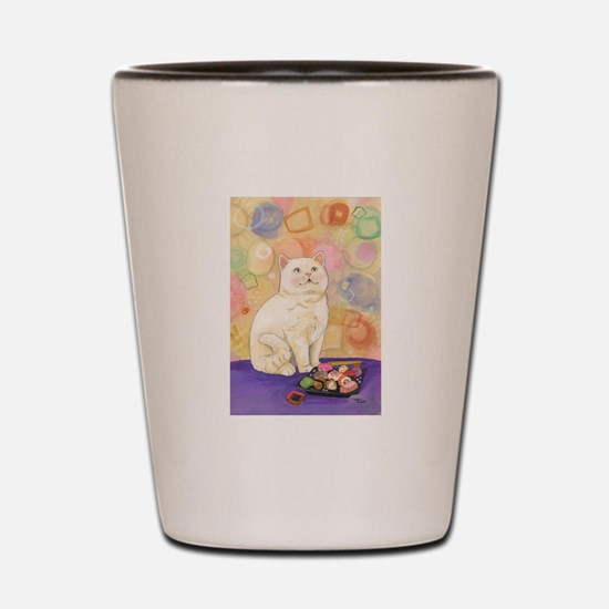 SushiCatInlOve8x10 Shot Glass