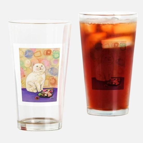 SushiCatInlOve8x10 Drinking Glass