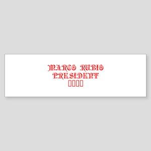 Marco Rubio President 2016-Pre red 550 Bumper Stic
