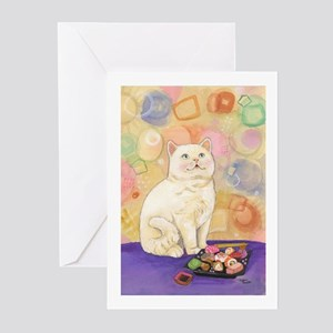 SushiCatInlOve8x10 Greeting Cards