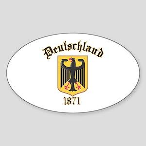Deutschland Germany 1871 Oval Sticker