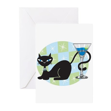 Cocktail Kitty Greeting Cards (Pk of 10)