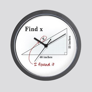 Find x Wall Clock