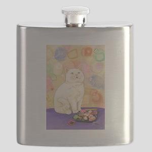 SushiCatInlOve8x10 Flask