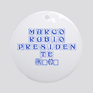 Marco Rubio Presidente 2016-Kon blue 460 Ornament