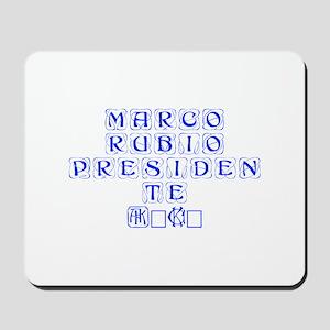 Marco Rubio Presidente 2016-Kon blue 460 Mousepad