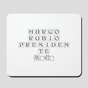 Marco Rubio Presidente 2016-Kon gray 460 Mousepad