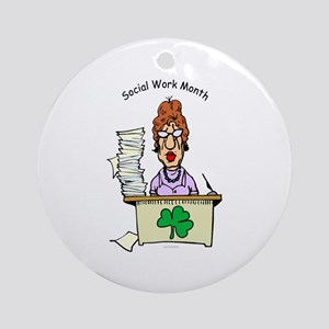 Social Work Month Desk Ornament (Round)