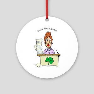 Social Work Month Desk Ornament (Round)