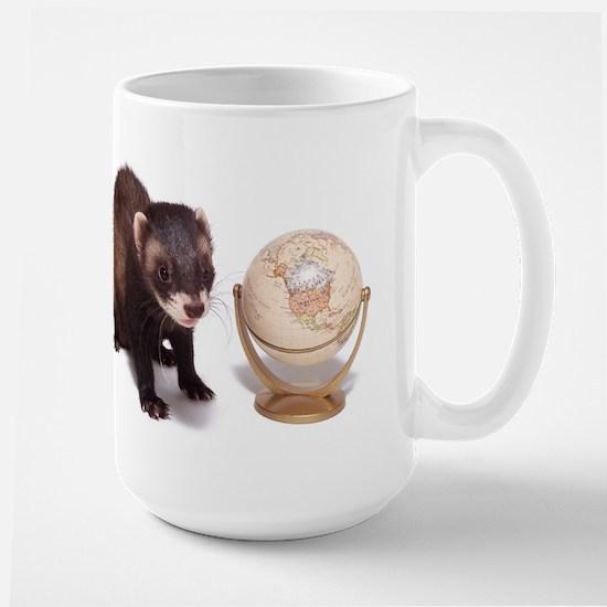 Worlds Greatest Ferret Dad Large Mug