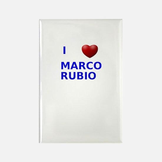 i love marco rubio Rectangle Magnet