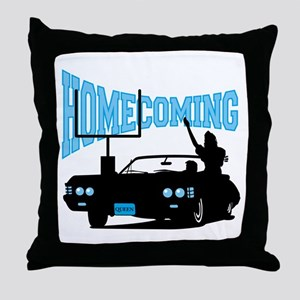 Homecoming Queen Blue Logo Throw Pillow