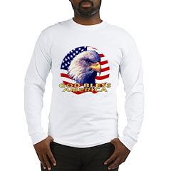 Gob Bless America Patriotic Long Sleeve T-Shirt