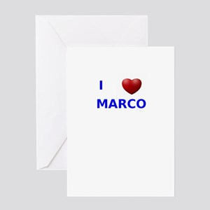 i love marco Greeting Card