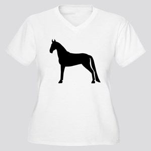 Tennessee Walking Horse Women's Plus Size V-Neck T