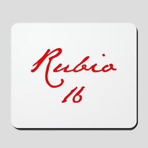 Rubio 16-Jan red 400 Mousepad