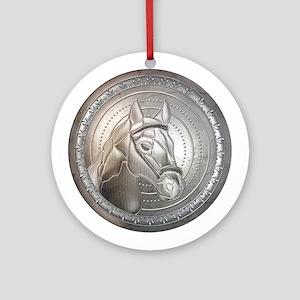 Shield of Silver 12 Ornament (Round)