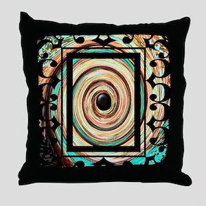 Vintage Swirl Under Gothic Frame Throw Pillow