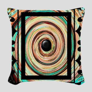 Vintage Swirl Under Gothic Fra Woven Throw Pillow