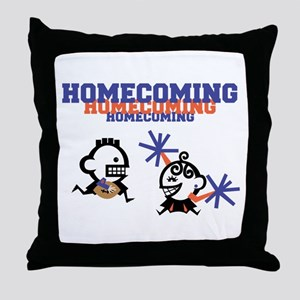 Homecoming Couple Throw Pillow