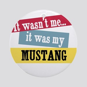 Mustang Ornament (Round)