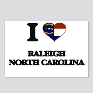 I love Raleigh North Caro Postcards (Package of 8)