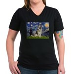 Starry / G-Shep Women's V-Neck Dark T-Shirt