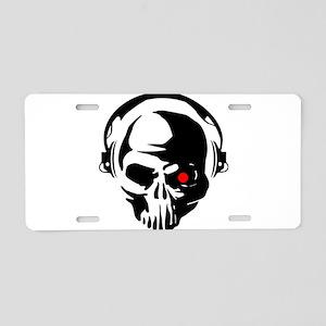 Terminator Dj Skull Dubstep Aluminum License Plate
