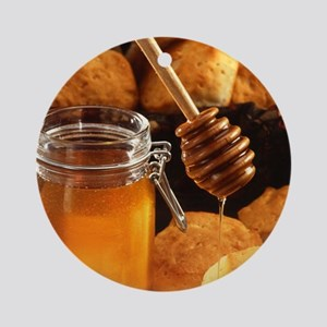 Delicious Honey Jar Ornament (Round)