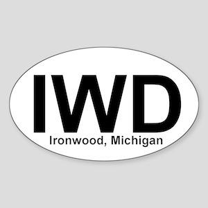 IWD - Oval Sticker