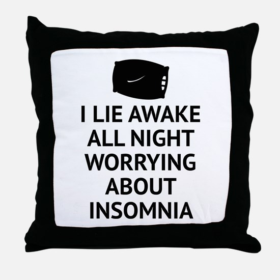 Worrying About Insomnia Throw Pillow