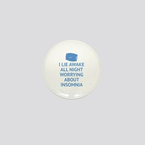 Worrying About Insomnia Mini Button