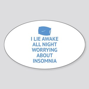 Worrying About Insomnia Sticker (Oval)