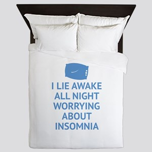 Worrying About Insomnia Queen Duvet