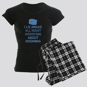 Worrying About Insomnia Women's Dark Pajamas